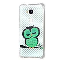 Huawei Honor 5X Cover,Huawei Honor X5 Phone Case,Huawei GR5 Cover,Huawei Honor X 5 Case,[Painted Pattern] Soft Silicone Back Cover for Honor X5 Back Cover(Green cats)