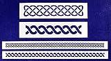 Celtic Knot Border 4 Piece Stencil Set-Border-14 Mil -Painting/Crafts/Templates