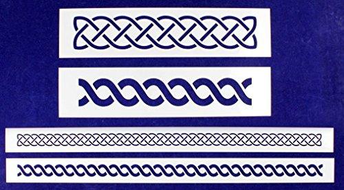 - Celtic Knot Border 4 Piece Stencil Set-Border-14 Mil -Painting/Crafts/Templates