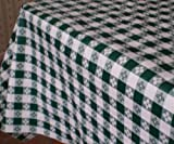 "Blue Hill, 52""x70""; Classic Green Tavern Check, Flannel Backed, Vinyl Tablecloth; ""Made in the U.S.A"""