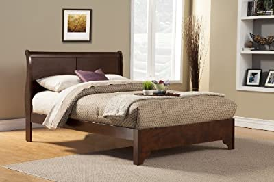 Alpine Furniture 5 Piece West Haven Sleigh Bed Set, Full, Cappuccino