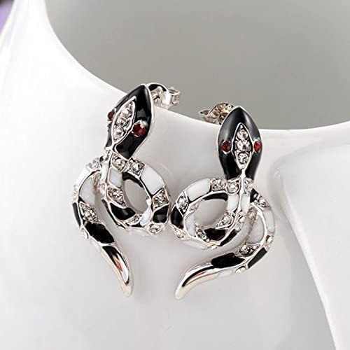 Carffany Womens Austric Crystal Snake Earring Jewelry Set