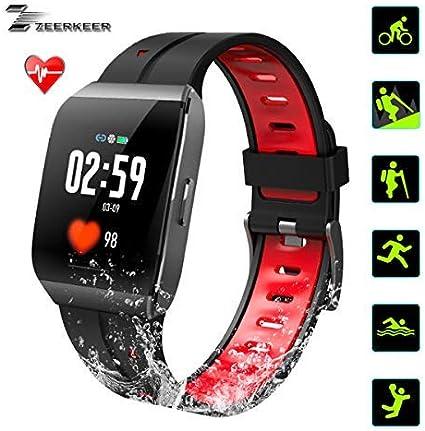 Amazon.com: ZEERKEER Pulsera inteligente Fitness Tracker ...