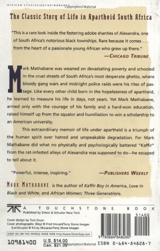 an analysis of mark mathabanes autobiography kaffir boy The autobiographical account of mark mathabane's experience under the apartheid regime of south africa is a fascinating look into the realities of life for one of the last oppressed majorities of africa.