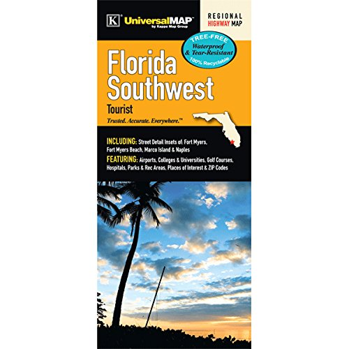 Southwest Florida Map - Florida State Southwest Region Laminated Map