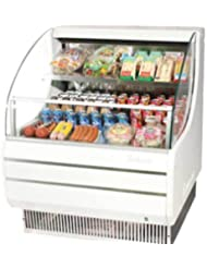 Turbo Air TOM30L 28 Low Profile Display Merchandiser with Modern Design Attractive Glass Sides Environmental Friendly Refrigeration System Standard Back-Guard and Anti-Rust Coating: