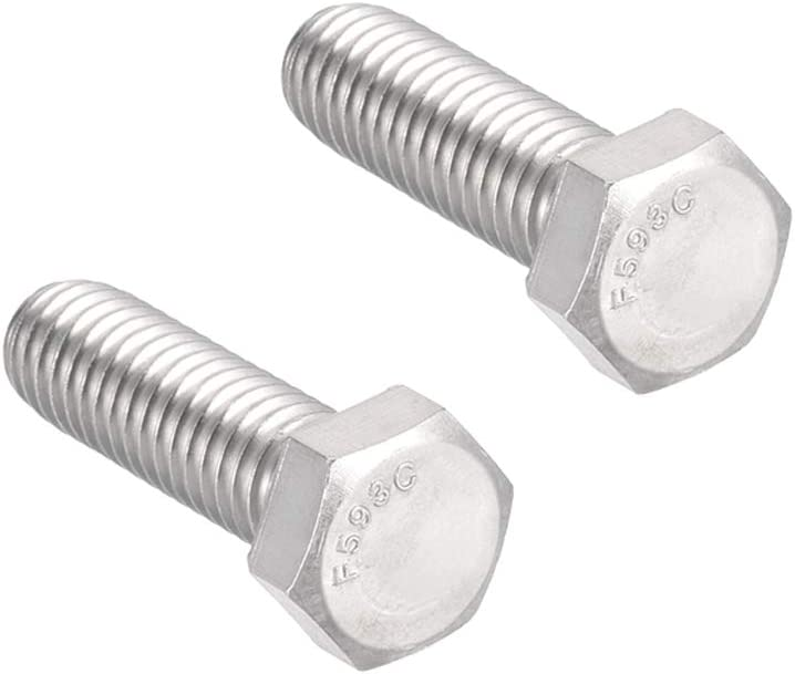 sourcing map 3//8-16x4 304 Stainless Steel Hex Screw Bolts Fastener 5pcs
