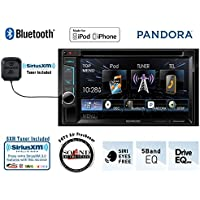 Kenwood DDX372BT 6.2 DVD Receiver with Built in Bluetooth and a SiriusXM Satellite Radio Tuner, antenna and a FREE SOTS Air Freshener