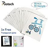 Riotech 2017 New Design 3D Drawing Mold 3D Drawing books 3D Pen Stencils-Real Paper Stencils for 3D Pen 3D Printing pen for Children Gift Toy (20 Different Paper Patterns,40 Different Designs)