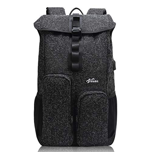 15.6 Inch Laptop Backpack with USB Port, Slim Backpack Travel Rucksack Hiking Daypacks College Back Packs for Men Women (Black)