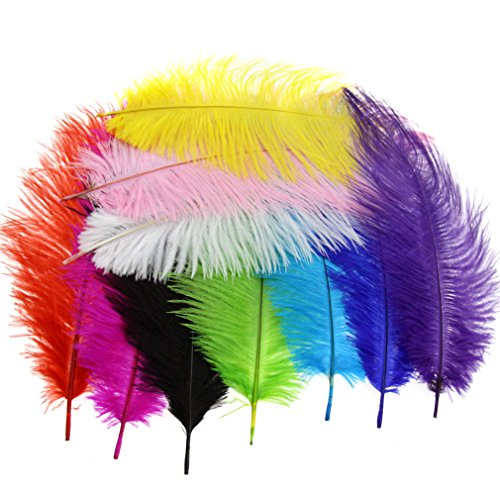 (10PCS Multi Colours Artificial Feathers Arts Crafts 10