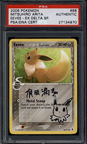 Eevee Sketch PSA/DNA AUTOGRAPH #68/113 by Mitsuhiro Arita EX Delta Species Photo - Pokemon Gaming