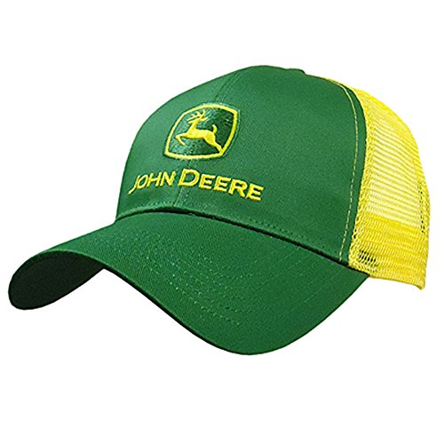 John Deere Embroidered Logo Mesh Back Baseball Hat - One-Size - Men's - Yellow