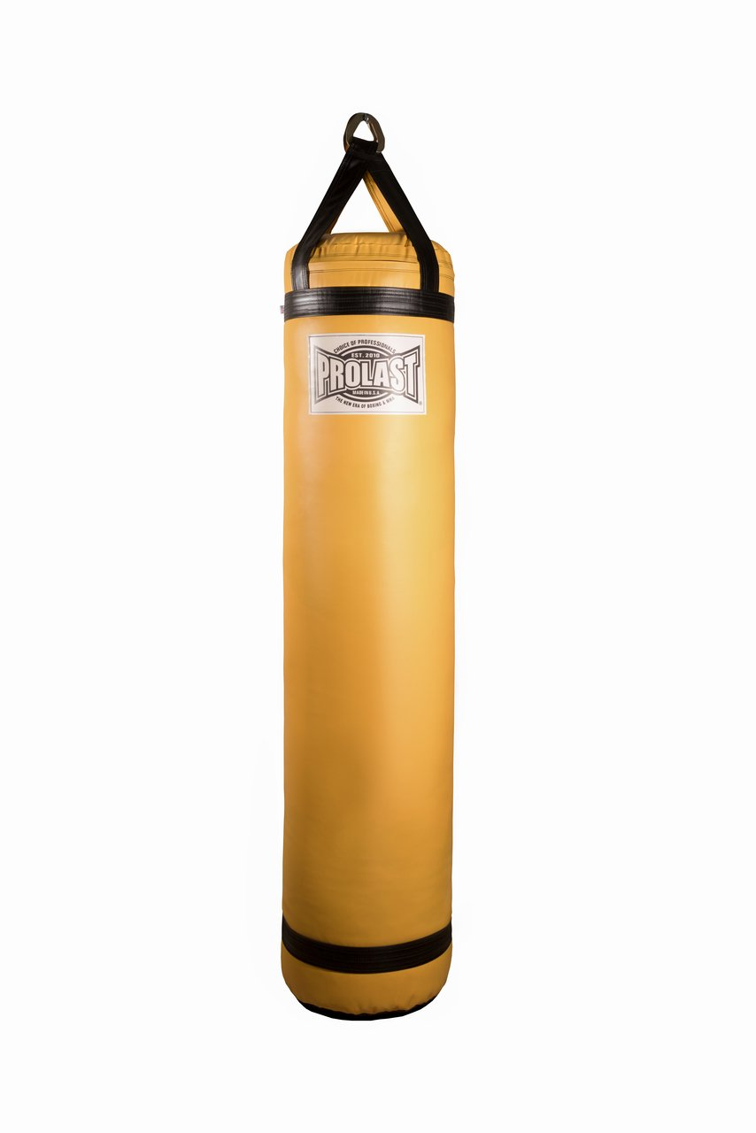 prolastボクシング/ MMA /タイ式5 ft Heavy Punching Kicking Bag – Filled B07BFPR9D6 Yellow and Black 100 lb