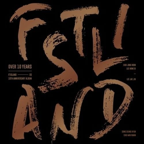 FT ISLAND - [OVER 10 YEARS] CD+1p FOLDING POSTER(ON-PACK)+1p PhotoCard+5p PostCards K-POP Sealed (Postcard Island)