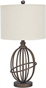 Ashley Furniture Signature Design - Manasa Metal Table Lamp - Traditional - Bronze Finish