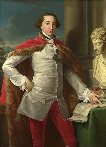 The Polyster Canvas Of Oil Painting 'Pompeo Girolamo Batoni Portrait Of Richard Milles ' ,size: 18 X 25 Inch / 46 X 63 Cm ,this Amazing Art Decorative Canvas Prints Is Fit For Gift For Bf And Gf And Home Gallery Art And Gifts -