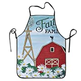 Unisex Personalized Apron-Faith Family Printed Apron For Cooking BBQ Party Commercial Craft,2821 Inch