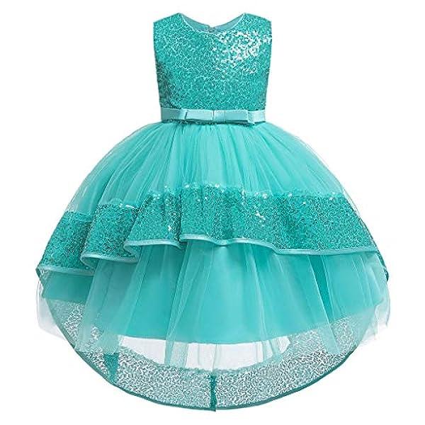 Fille Princesse Maxi Robes avec strass ceinture mariage fete robe de fete