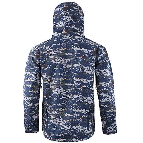 Montañismo Funciones Con Exterior Para Impermeable De Hombre Chaqueta Forro Y Azul Cálido Aterciopelo Escalada Softshell Zarlle qanw0O5W