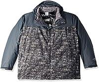 Columbia Men's Whirlibird Iii Big & Tall Interchange Jacket, Graphite Mesh Breakup Print, 4X