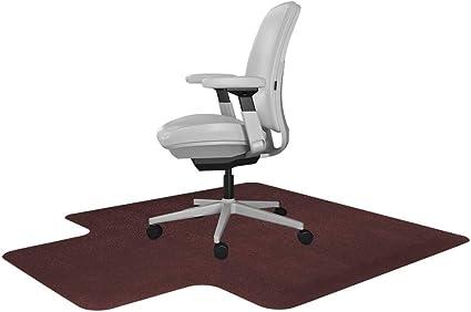 Resilia Tapete para silla de escritorio con borde – Alfombra de PVC para el hogar o la oficina, color burdeos, 36 x 48 pulgadas, fabricado en los