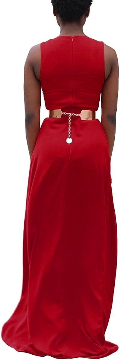 Womens Scoop Neck Sleeveless High Waist Jumpsuit With Swing Hem