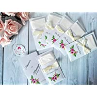 10 fazzoletti personalizzati per cerimonie matrimonio per lacrime di gioia