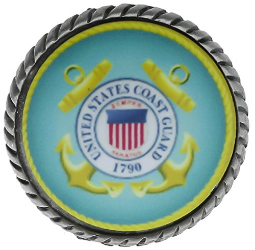 Coast Guard Blue Yellow Color Hat Lapel Pin SONCGD205 ()