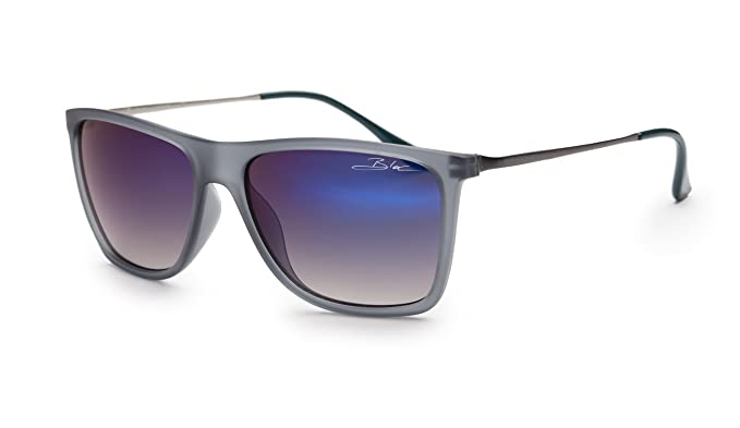 09140907b0 BLOC FROSTBITE F270 Mens Womens Sunglasses GREY-BLUE FROST   BLUE MIRROR  CAT.3  Amazon.co.uk  Clothing