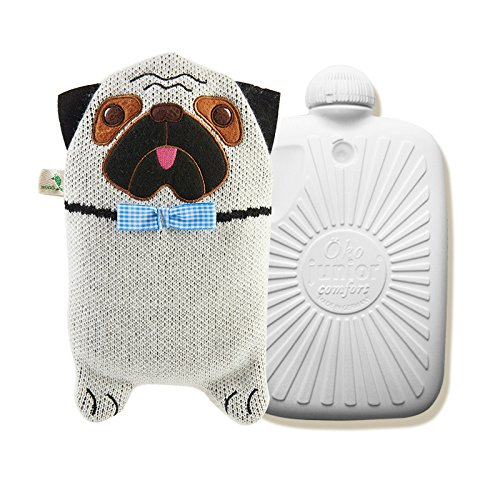 Hugo Frosch 0.8L Kid Hot Water Bottle with Cover Highest Quality - Made in - Germany Cover