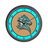 Cheap CafePress – Turquoise Horse Wall Clock – Unique Decorative 10″ Wall Clock