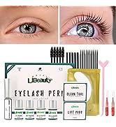 Libeauty eyebrow lamination kit Easy and Fast DIY at Home 5 Minutes Curl Eyelash Lift Long- Lasti...