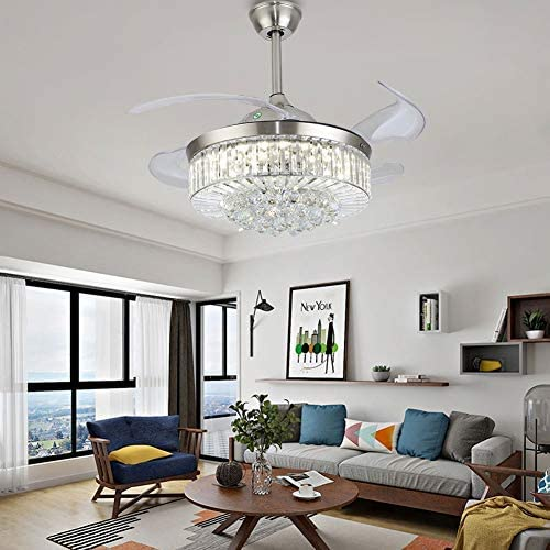 Fandelier Ventilatori da soffitto con luci e telecomando 36 pollici