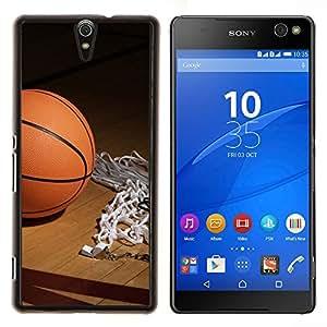 EJOOY---Cubierta de la caja de protección para la piel dura ** Sony Xperia C5 Ultra ** --Aro de baloncesto
