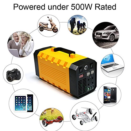 (Pure sine wave) igoeshopping Portable Uninterruptible power supply (UPS) & Power Backup with built-in 26A Lithium battery, Used in emergency outdoor indoor for USB DC AC devices by igoeshopping (Image #3)