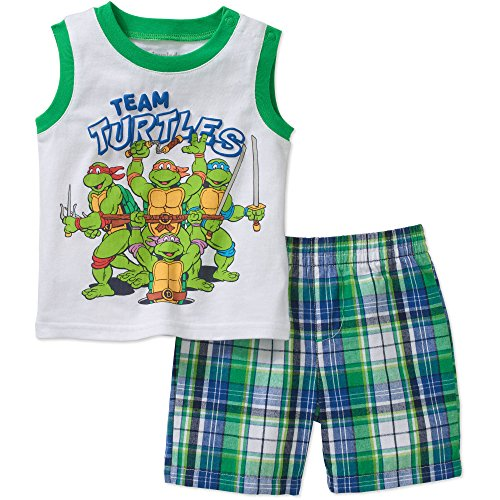 TMNT Team Turtles Baby Boys Tank Top and Shorts Outfit Set (Newborn) -