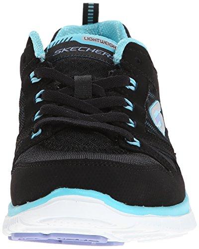 Skechers Flex Appeal Adattabile Damen Sneakers Negro (bktq)