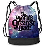 Best World Traveler Overnight Business Travel Bags - YyTiin The Worlds Greatest Dad Unisex Waterproof Drawstring Review