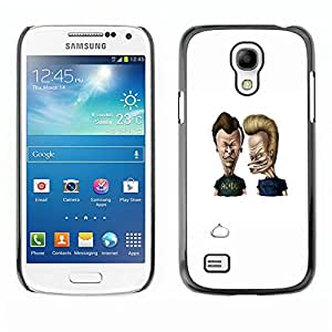EJOY---Cubierta de la caja de protección la piel dura para el / Samsung Galaxy S4 Mini i9190 / --Acdc Beavis y Butt