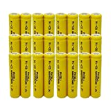 AAA 1.2V Ni-CD 400mAh Rechargable Batteries Flat Top Count (24Pcs)