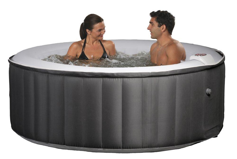 Amazon.com : Swim Time Portable Inflatable Spa - Black/Gray : Hot ...