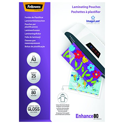 Fellowes ImageLast A3 Laminating Pouch-Parent 80 Microns