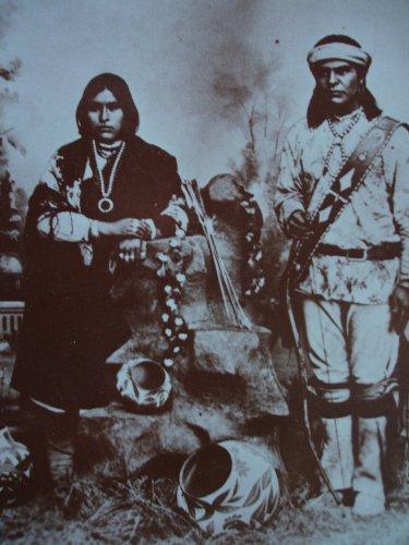 Old West Collectors Series Postcard : Laguna Pueblo Indian Couple