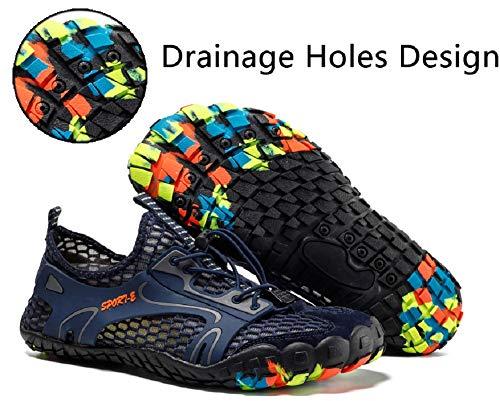 pretty nice 30c63 3d3f2 Randonnée Chaussures Tqgold Fitness Sport Et Aquatique Basket De Bleu  Piscine Homme Chaussons Femme D eau ...