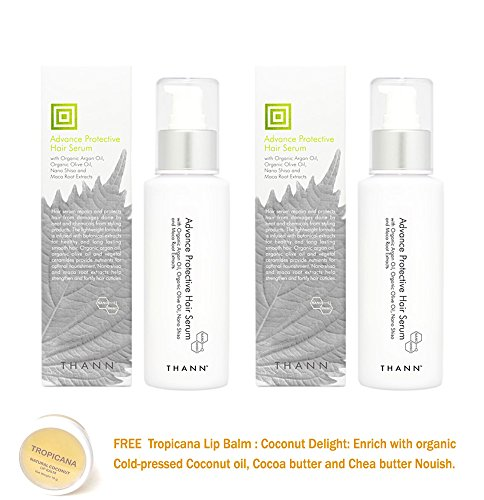 2 Units Of Thann Advance Protective Hair Serum With Organic Argan Oil  Organic Olive Oil  Nano Shiso And Maca Root Extracts 100 Ml Get Free Tomato Facial Mask