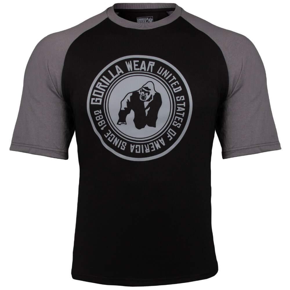 Gorilla Wear Texas T-Shirt - schwarz/dunkelgrau - Bodybuilding und Fitness Bekleidung Herren