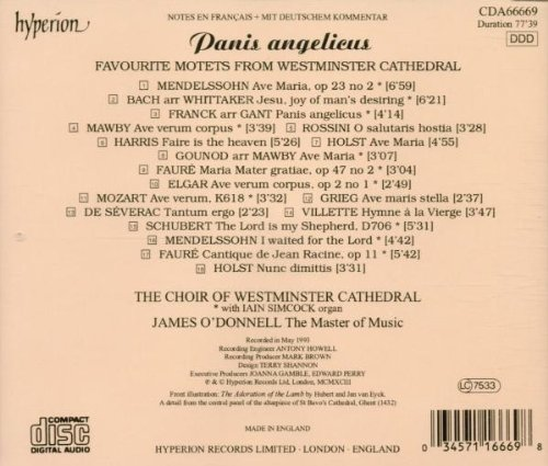 Panis Angelicus - Favorite Motets from Winchester Cathedral