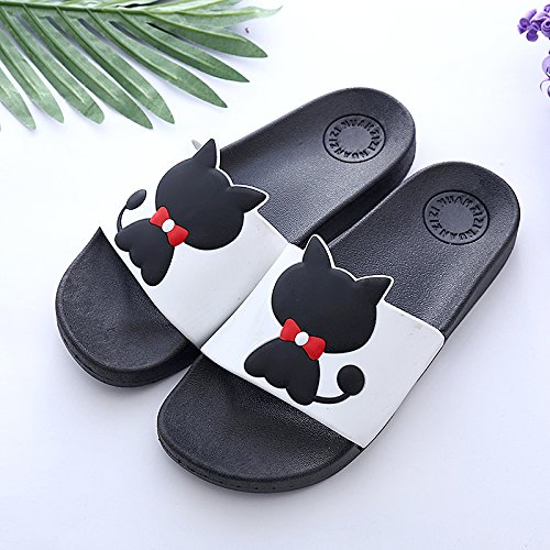 and interior soft anti cute of 45 home children bathroom female slip a slippers men Cat 44 Fish Black floor cool summer three male bath students fankou family PA7qUU