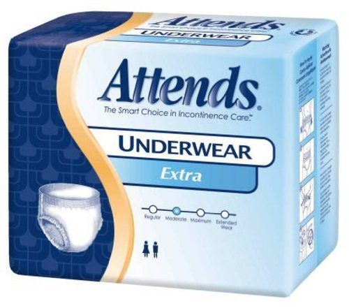Paper Pak Attends Underwear - Paper Pak Attends Underwear Extra Absorbancy Large - Pack of 18 - Model ap0730 by Paper Pak